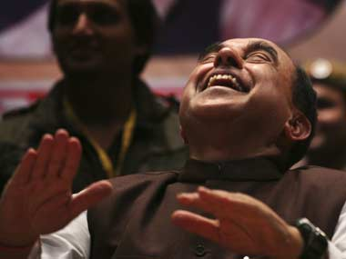 Subramanian Swamy Laughing.Reuters