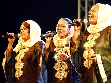 The Nightingales perform at a concert in Khartoum in this file photo. AFP