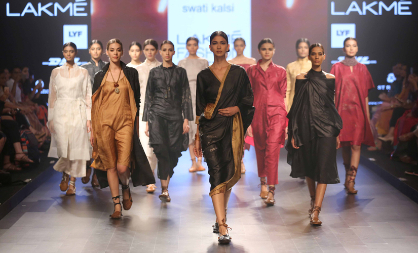 Models walk the ramp in Swati Kalsi's creations at LFW S/R 2016