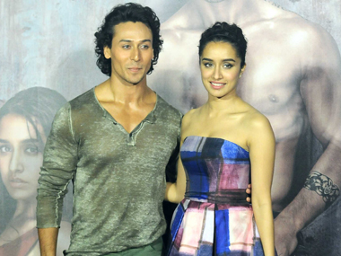 Tiger Shroff with Baaghi co-star Shraddha Kapoor. Image by Sachin Gokhale