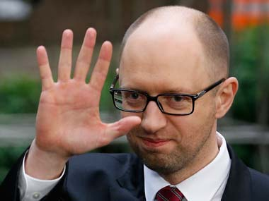 Outgoing PM Arseniy Yatsenyuk. Reuters