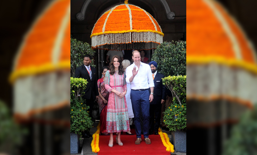 The Duke and Duchess of Cambridge — Prince William and Kate Middleton — get a royal welcome in Mumbai. Image by Sachin Gokhale