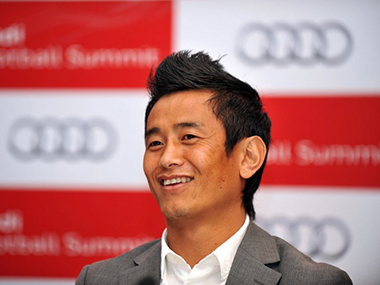 File picture of Bhaichung Bhutia. AFP