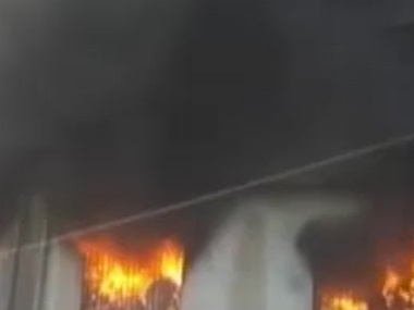 Fire at Bhiwandi building. IBNLive