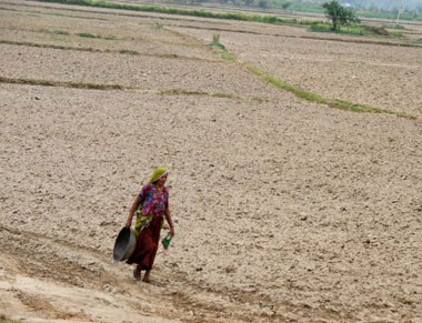 Struggle for water in parched areas. AFP