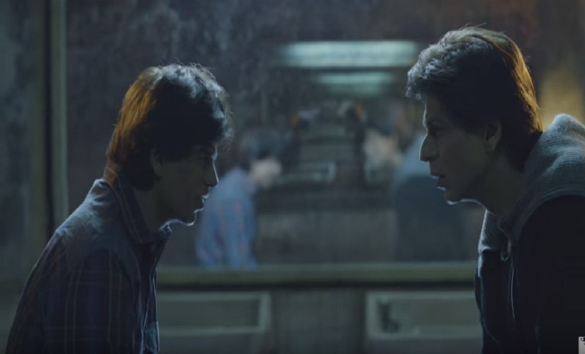 In profile, you can make out the differences in Gaurav (L) and Aryan's faces. Screen grab from YouTube