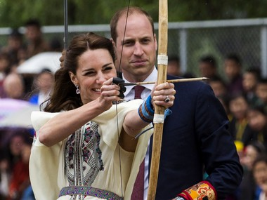 A file photo of Kate and WIlliam in Bhutan. AFP