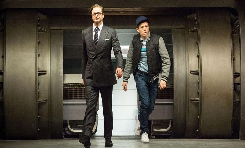 Colin Firth and Taron Egerton in the original Kingsman film