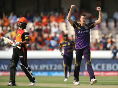 Morne Morkel celebrates taking a wicket. BCCI