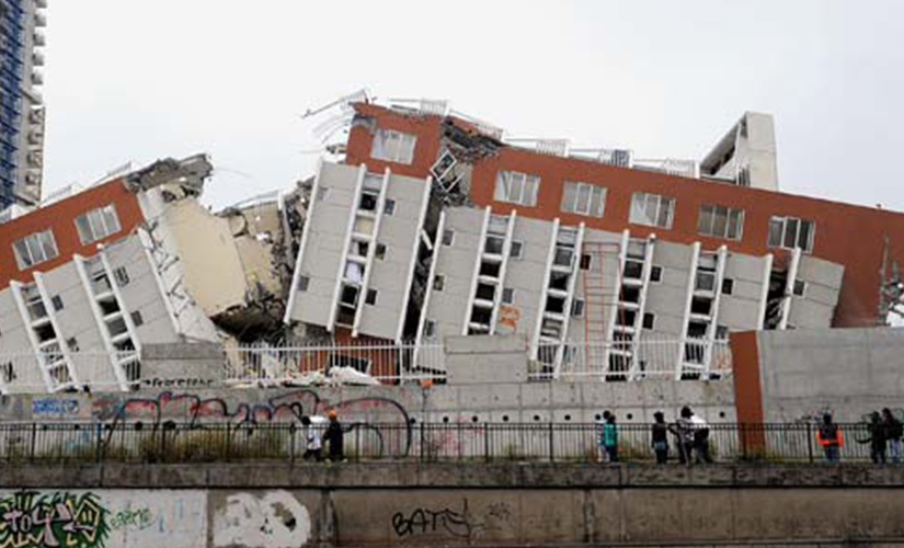 The 2010 earthquake in Chile. File photo. AFP