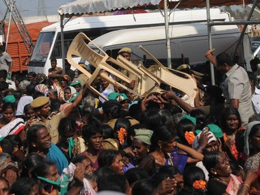 All for a glimpse of their 'Amma'