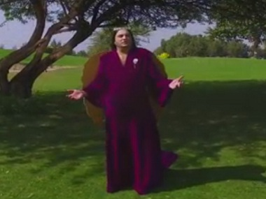 Taher Shah in the 'Angel' music video. Screen grab from YouTube