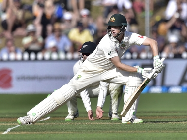 Australia's Adam Voges taken to hospital after being struck in the head by a ball