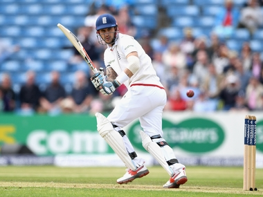 England's Alex Hales on his way to his second half-century on Day 1. Getty