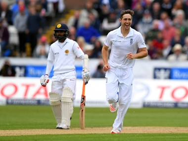 Chris Woakes in action against Sri Lanka in second Test. Getty