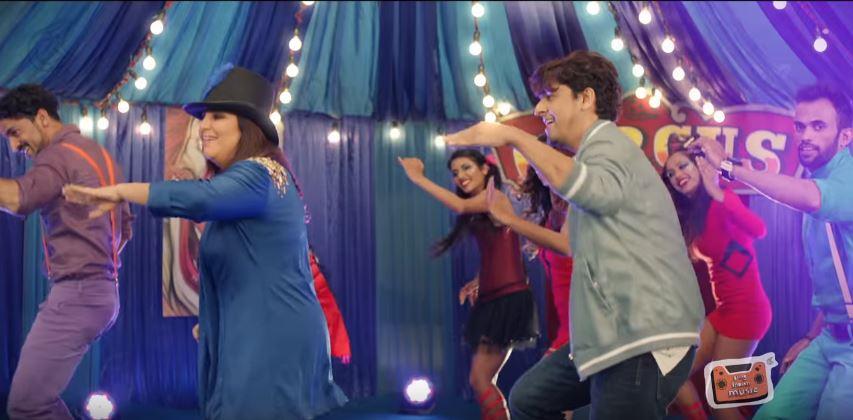 Farah Khan and Sonu Nigam bust a move. YouTube screen grab