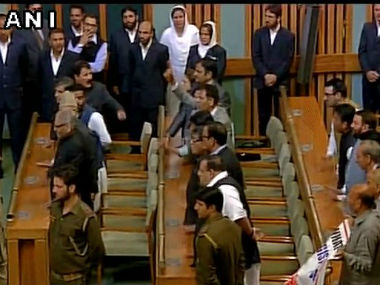 National Conference and Congress walk out of J&K assembly protesting AFSPA