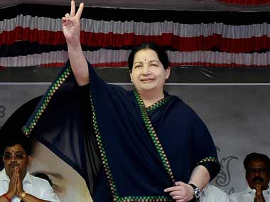 A file photo of Jayalalithaa. PTI