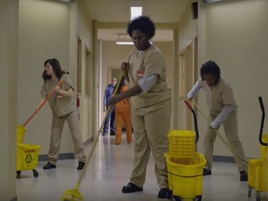 Still from trailer of Orange Is The New Black season four trailer. Screen grab from YouTube