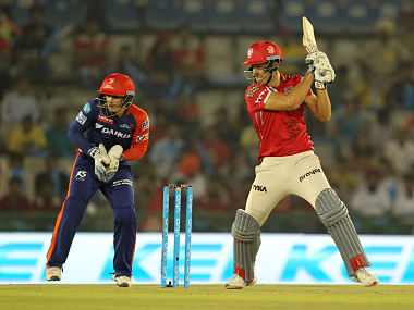 Marcus stoinis of Kings XI Punjab in action against Delhi Daredevils. SportzPics