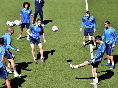 Bad news for Real Madrid: Ronaldo limps out of training ahead of Champions League final