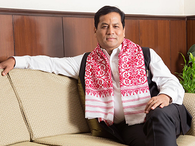 Assam Chief Minister Sarbananda Sonowal. Image courtesy: Twitter/@sarbanandsonowal