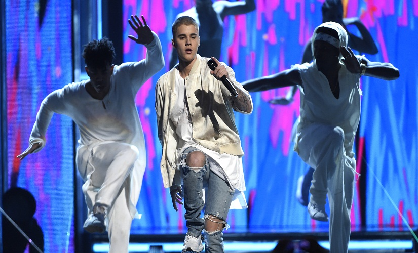 Justin Bieber performs at the Billboard Music Awards at the T-Mobile Arena on Sunday, 22 May, 2016, in Las Vegas. Image from AP