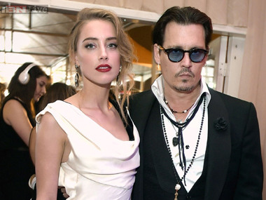 Amber Heard and Johnny Depp. File photo/Image from IBN