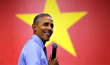 Vietnamese youth quiz Obama on rap, weed, compliment his good looks
