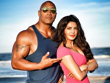 priyanka with dwayne johnson instagram