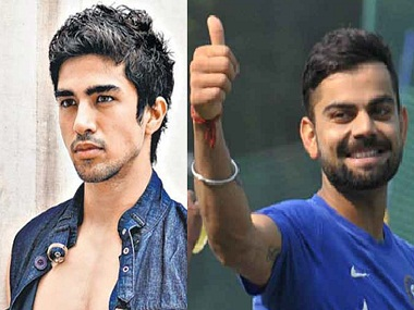 Saqib Saleem isn't playing Virat Kohli on screen, although his character in 'Dishoom' has been modelled on the cricket icon. Images from News 18. Getty