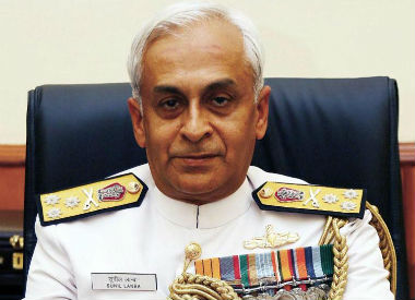 Indian Navy chief Sunil Lanba. CNN-News18