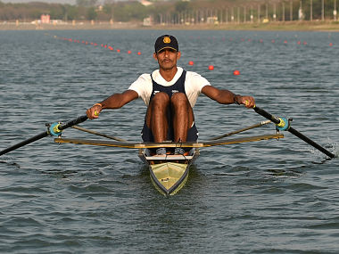 Indian rower Dattu Bhokanal overcame aquaphobia to qualify for the Olympics. AFP