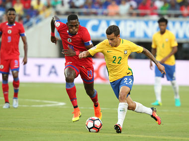 Philippe Coutinho scored a hat-trick against Haiti. AFP