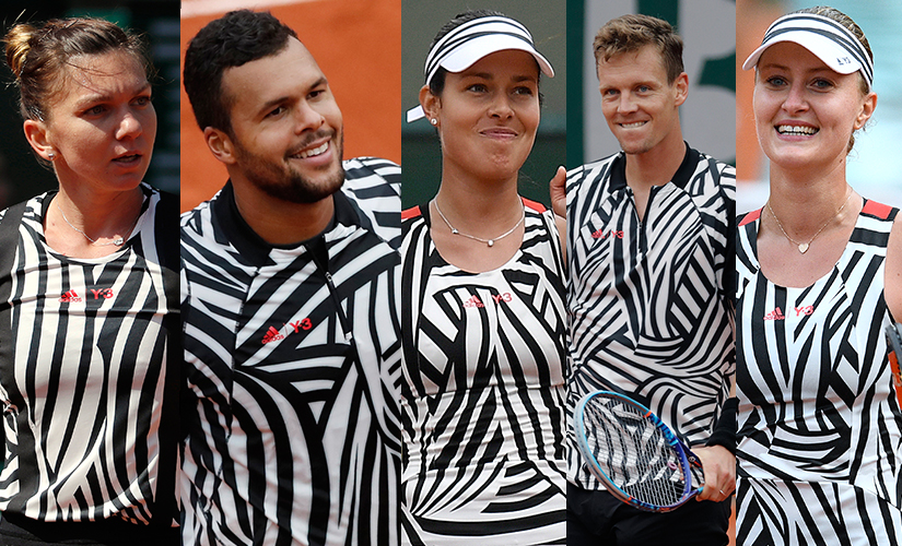 "Top-ranked players from Simona Halep to Tomas Berdych flaunted the ""zebra"" outfits at the French Open. AFP"