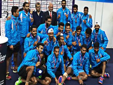 Indian men's hockey team. Image Credit: Twitter @TheHockeyIndia