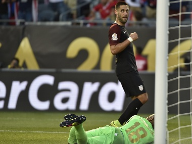 Clint Dempsey became just the second man to score 50 goals for the USA. AFP