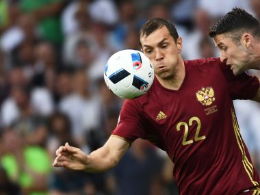 Russian striker Artem Dzyuba says England fans are no angels. AFP