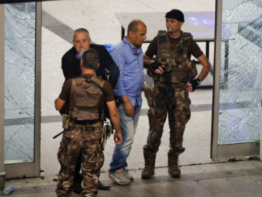 Security at the Ataturk Airport in Istanbul after Thursday's attack. AP