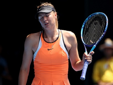 Sharapova will be out of action till 26 January, 2018. File image. AP