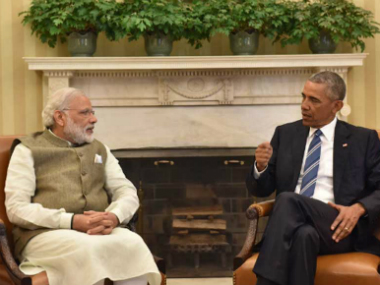Prime Minister Narendra Modi addressing a joint press conference with US President Barack Obama in USA on Tuesday. MEA