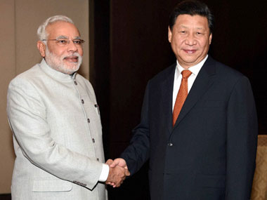 File image of Prime Minister Narendra Modi and Chinese President Xi Jinping. PTI