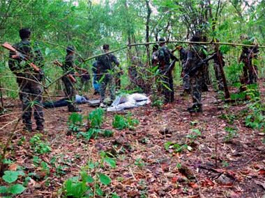 Chhattisgarh Three Naxals shot dead by security forces in an encounter