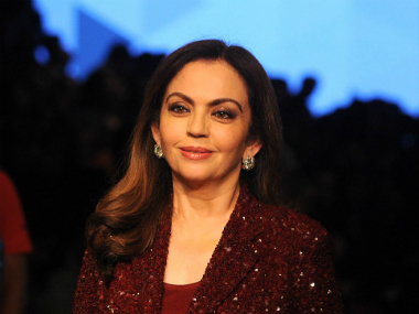 Reliance Foundation Chairperson Nita Ambani. AFP