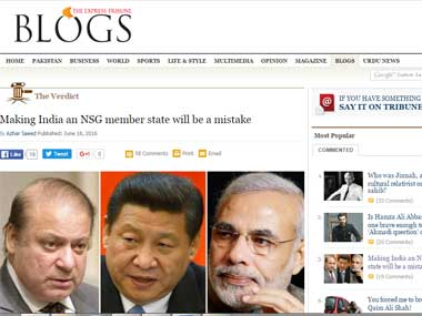 Making India an NSG member will be a mistake How Pakistani media is getting desperate