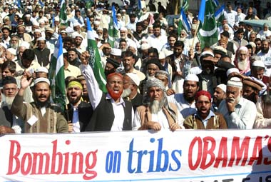Protests against drone attacks in Pakistan. File photo. Reuters