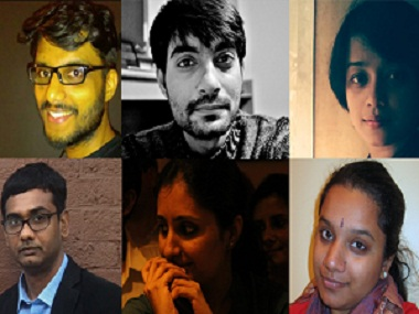 Some of the poets who've been featured in the anthology