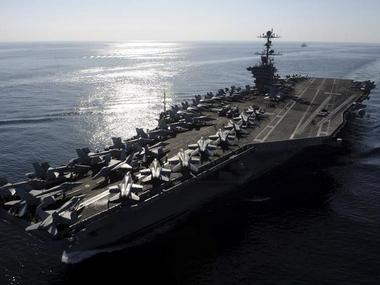 A file photo of the aircraft carrier ship, Stennis. Reuters