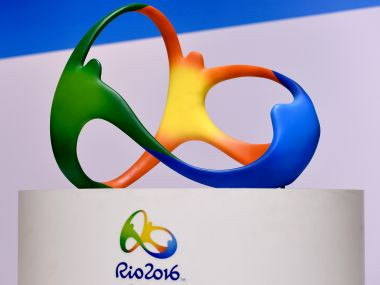 The official logo for the Rio 2016 Olympics games. Getty