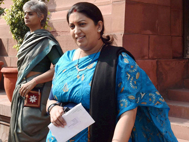 Smriti Irani says Jet Airways denied her a cabin crew job for lack of 'good personality'
